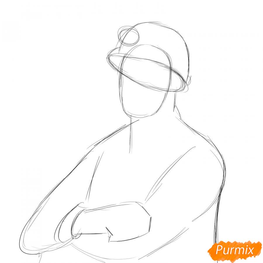 Рисуем шахтера - шаг 2