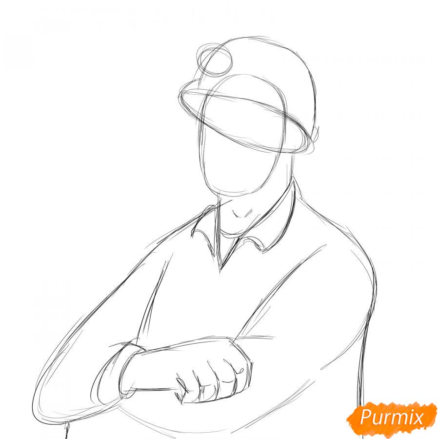 Рисуем шахтера - шаг 3