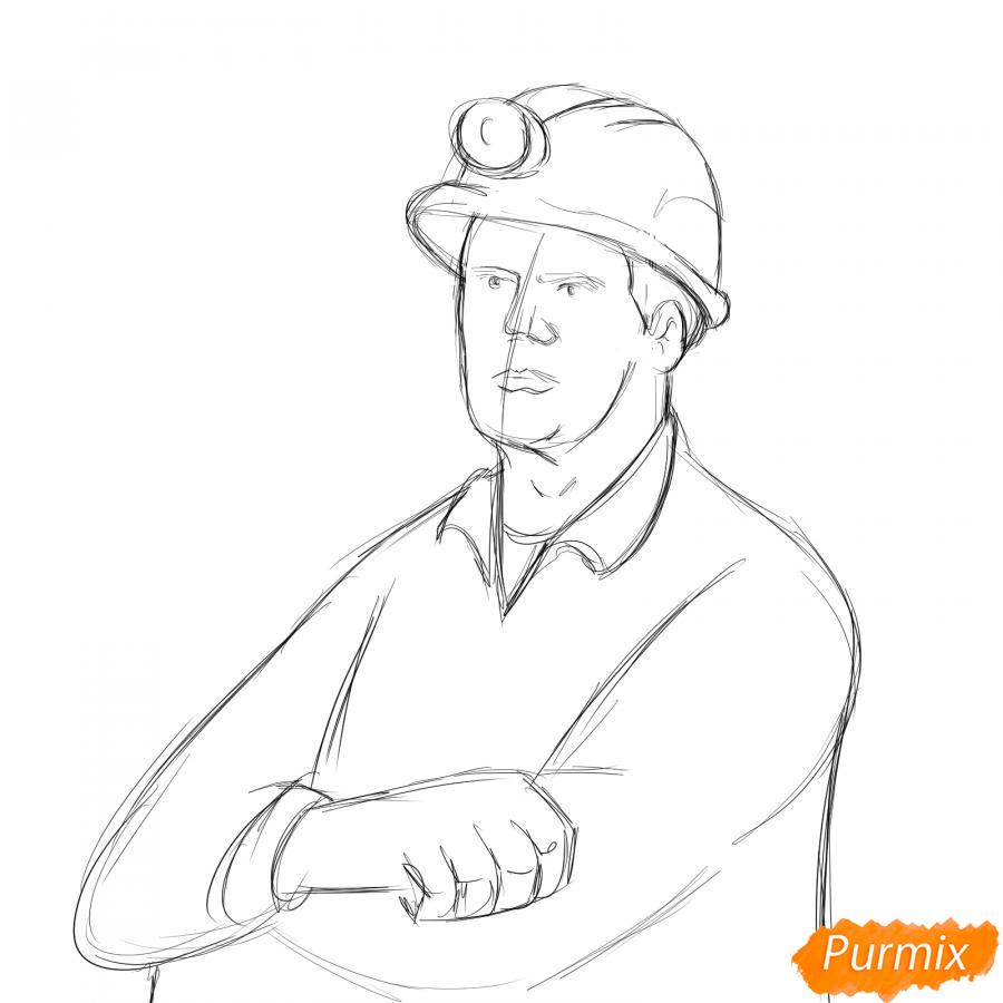 Рисуем шахтера - шаг 4