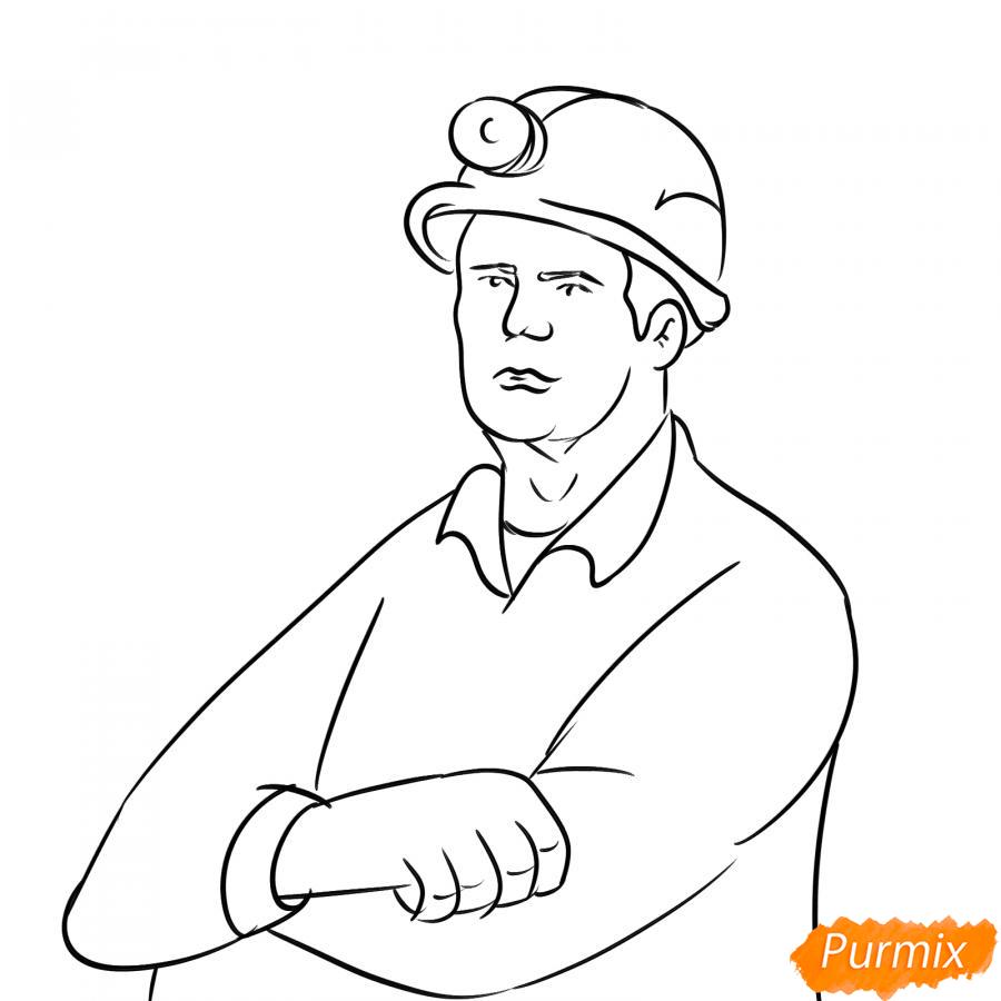 Рисуем шахтера - шаг 5