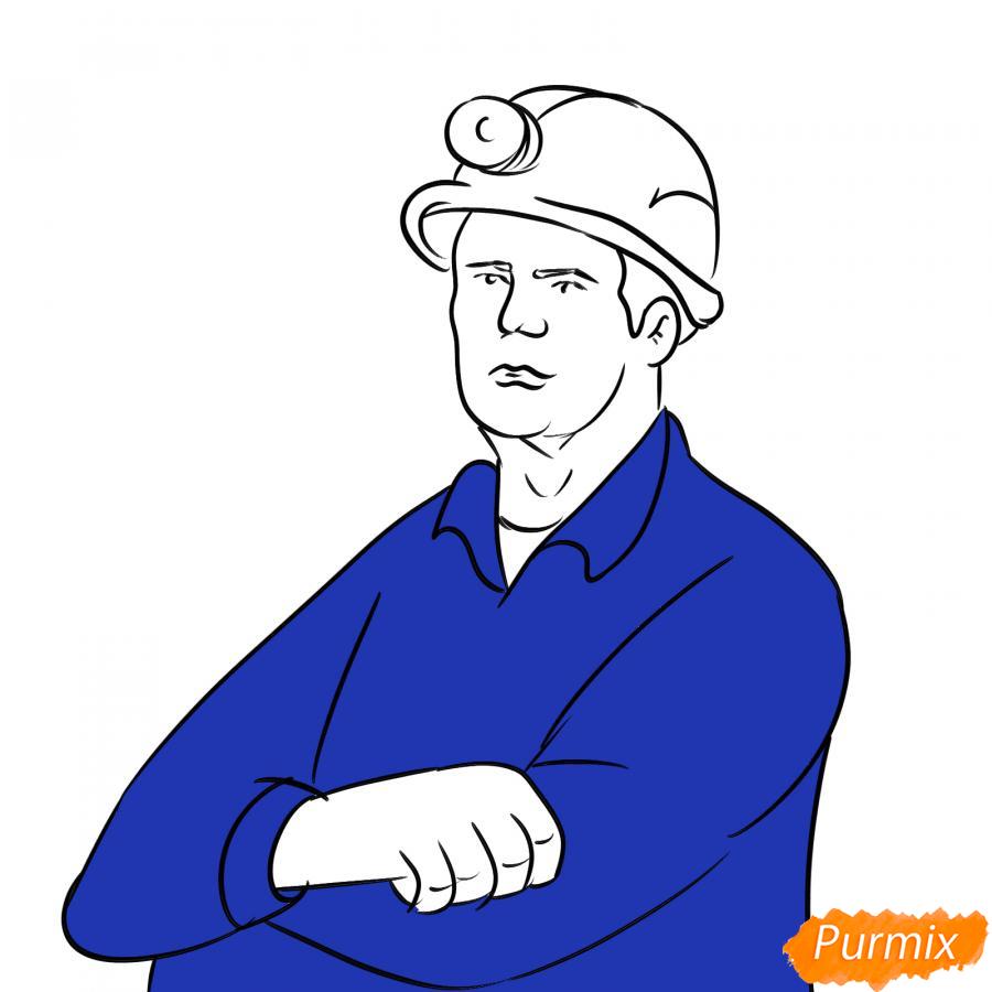 Рисуем шахтера - шаг 6