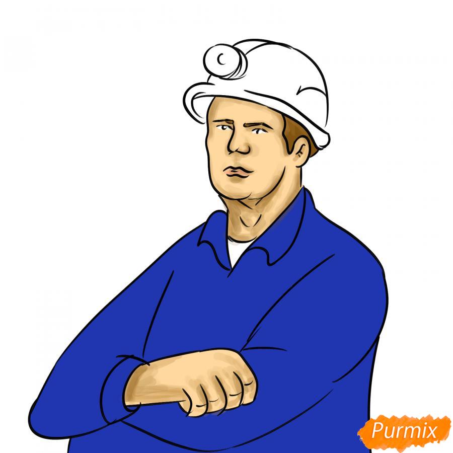 Рисуем шахтера - шаг 7