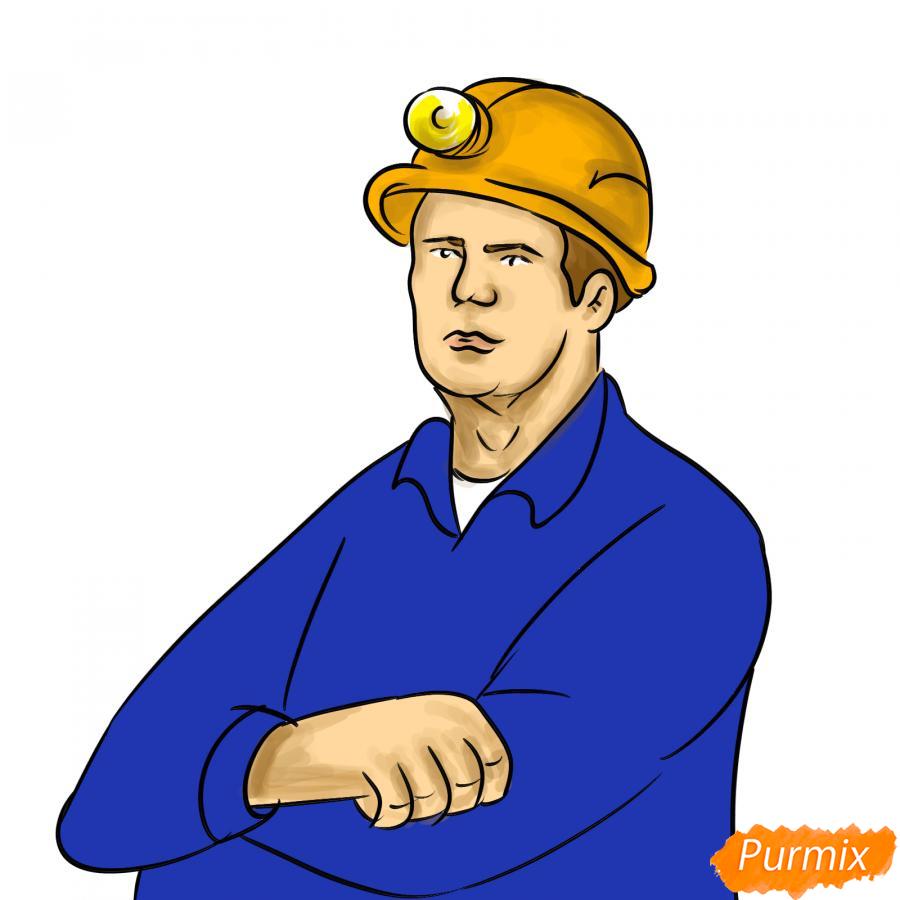 Рисуем шахтера - шаг 8