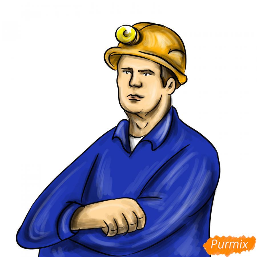 Рисуем шахтера - шаг 9