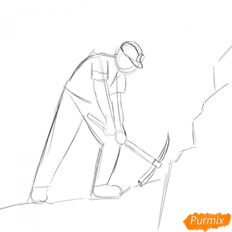 Рисуем шахтера за работой - шаг 3