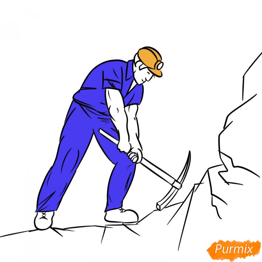 Рисуем шахтера за работой - шаг 7