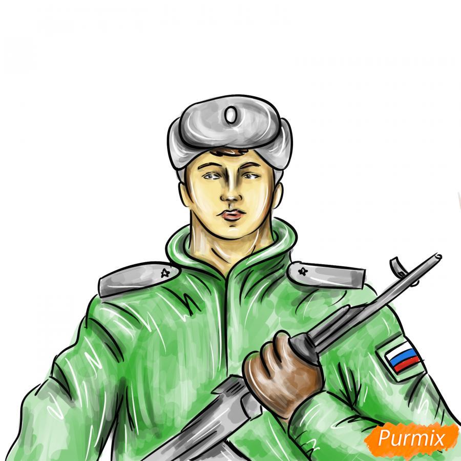 Рисуем солдата - шаг 10