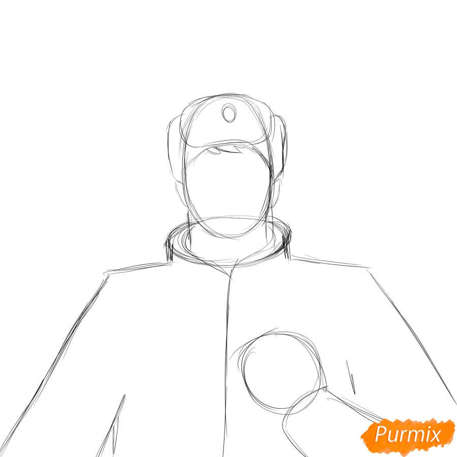 Рисуем солдата - шаг 2