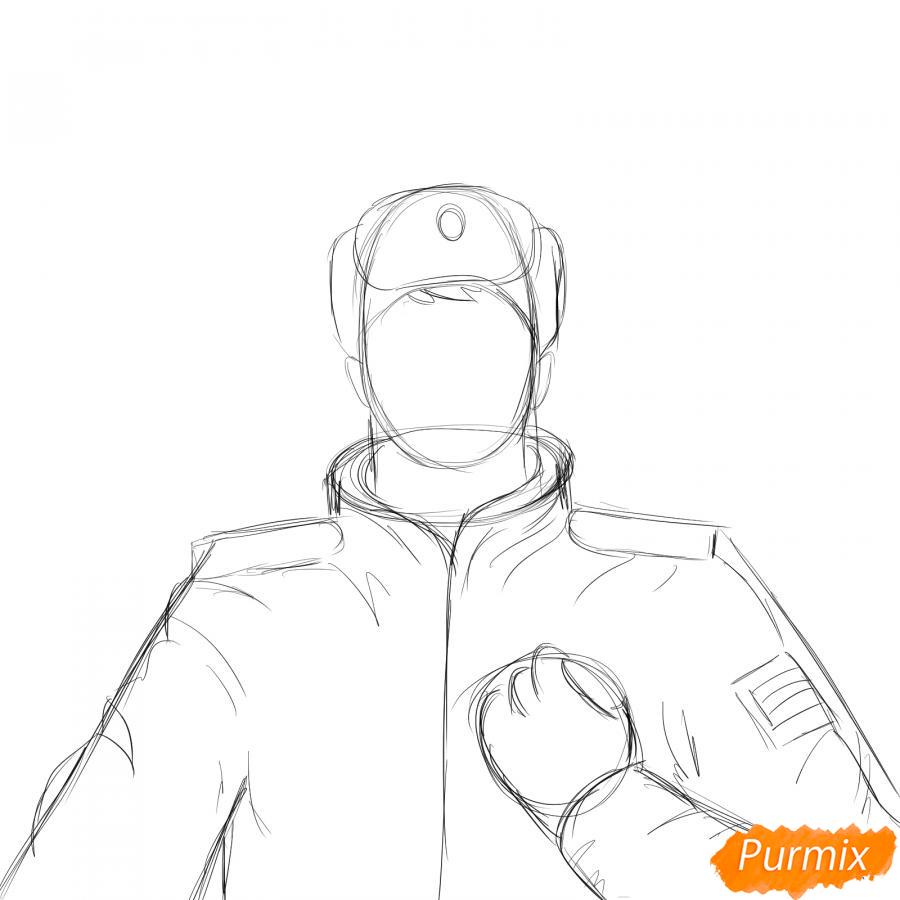 Рисуем солдата - шаг 3