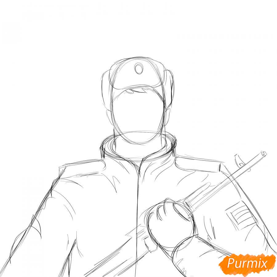 Рисуем солдата - шаг 4
