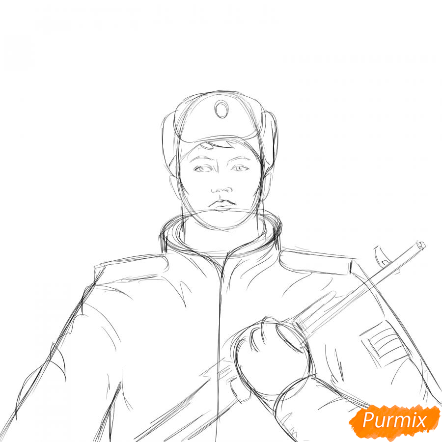 Рисуем солдата - шаг 5