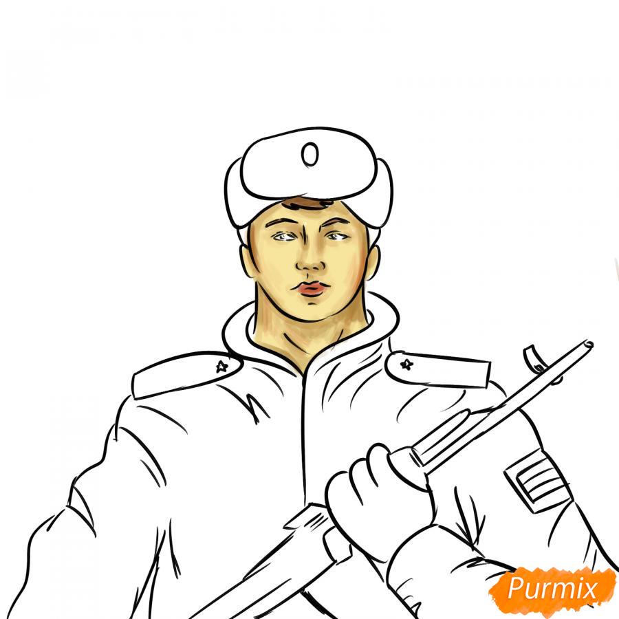 Рисуем солдата - шаг 7