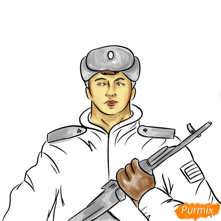 Рисуем солдата - шаг 8