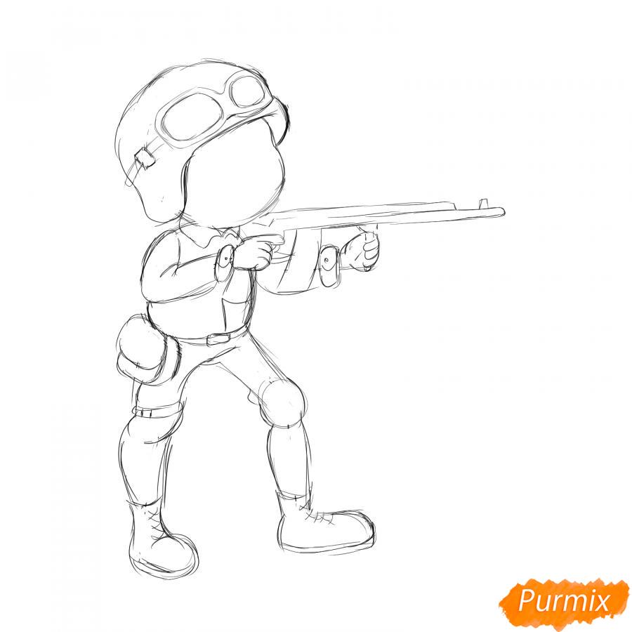 Рисуем солдата с автоматом - шаг 5