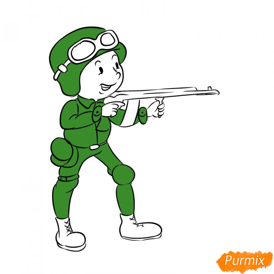 Рисуем солдата с автоматом - шаг 7