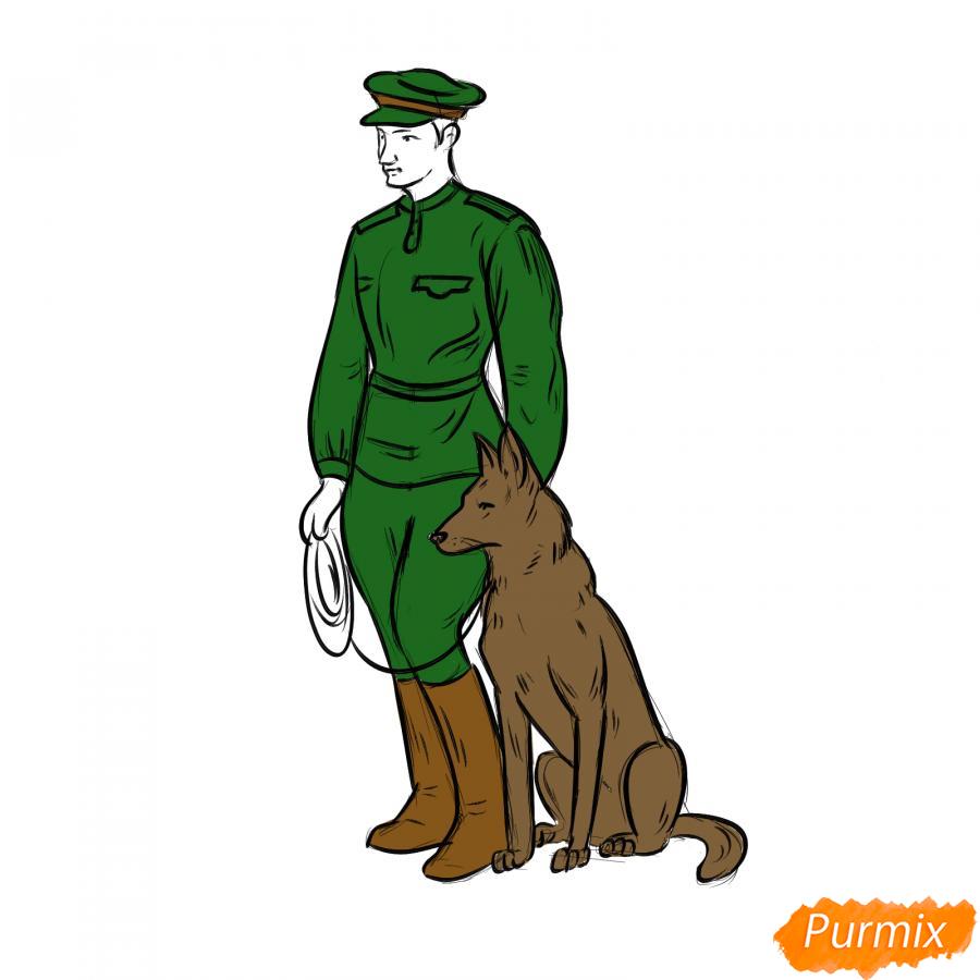 Рисуем солдата с собакой - шаг 6