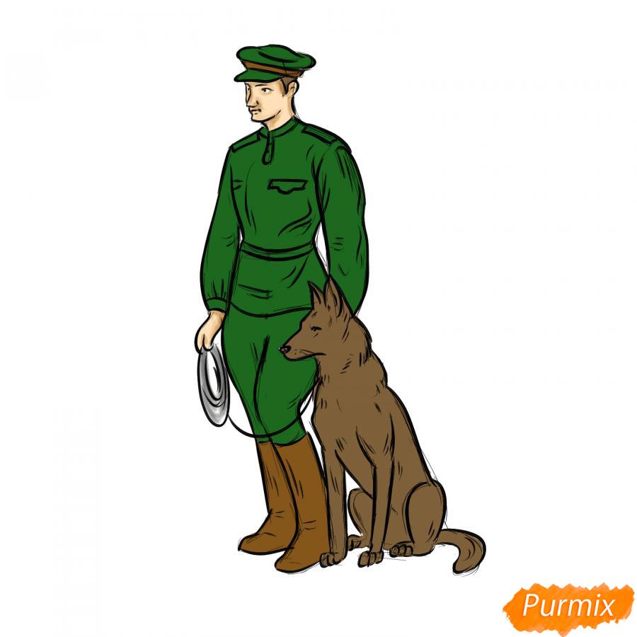 Рисуем солдата с собакой - шаг 7