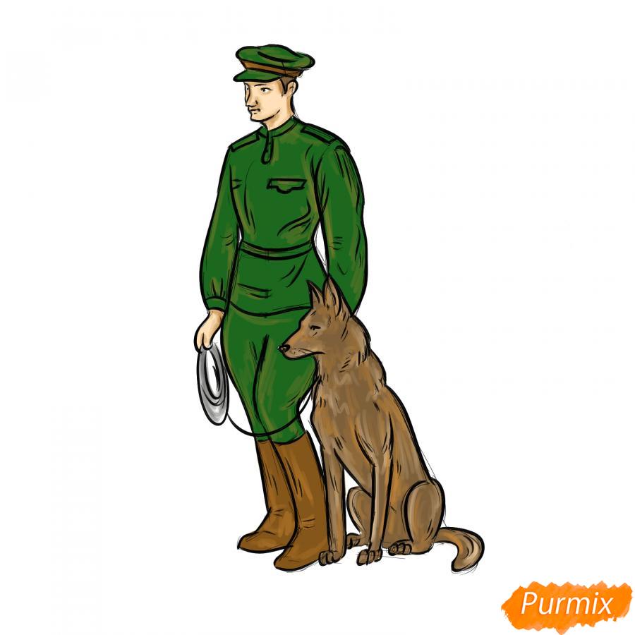 Рисуем солдата с собакой - шаг 8