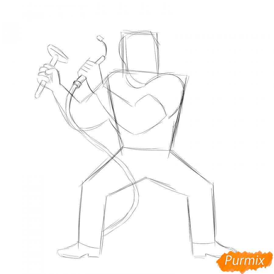 Рисуем сварщика - шаг 3
