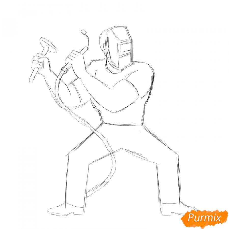 Рисуем сварщика - шаг 4