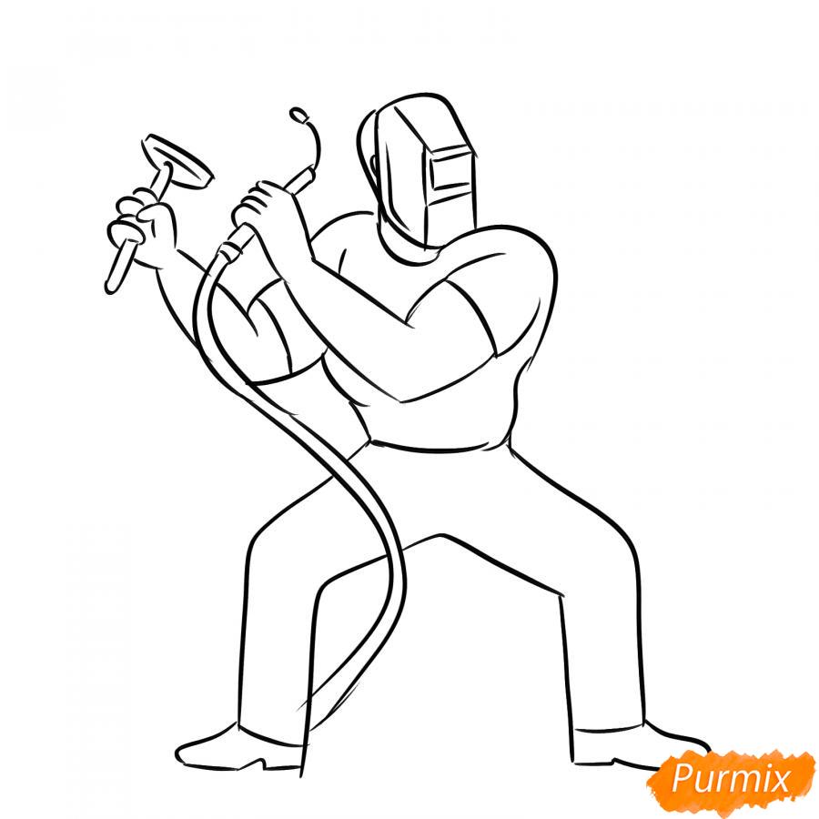 Рисуем сварщика - шаг 5