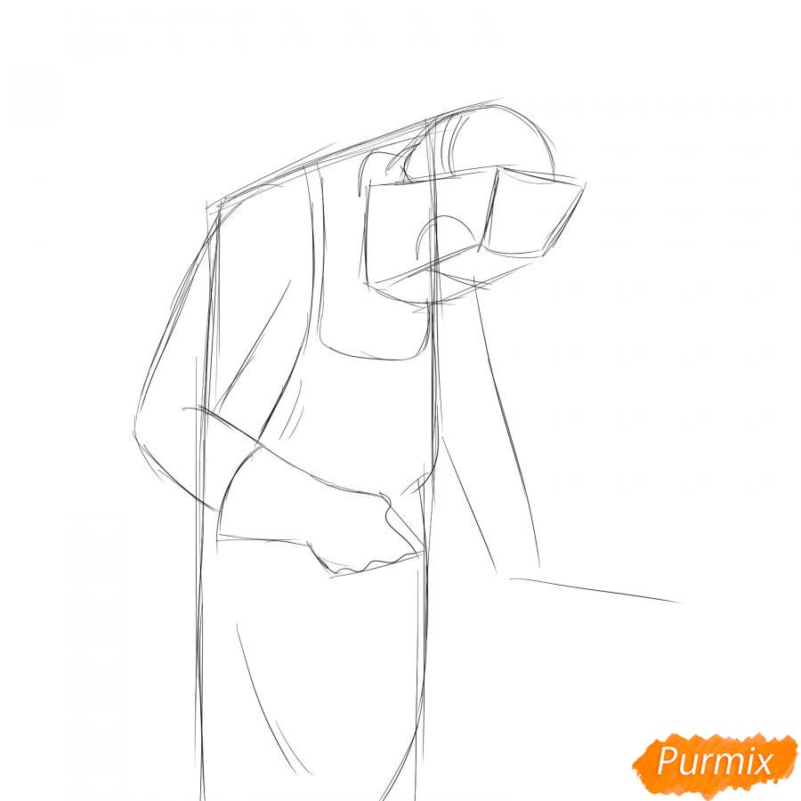 Рисуем сварщика за работой - шаг 3