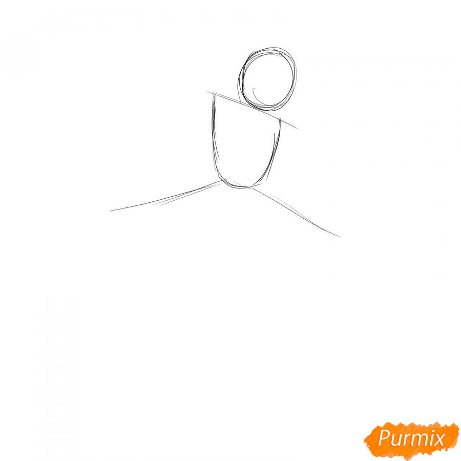 Рисуем танцующую девушку - шаг 1