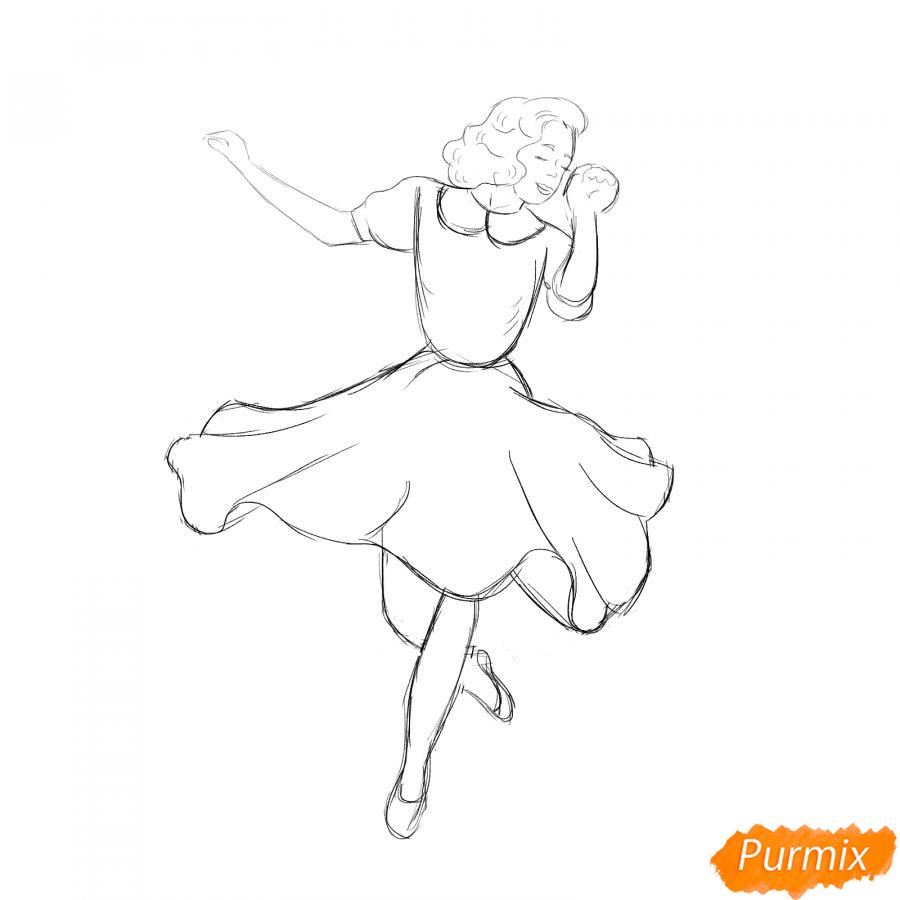 Рисуем танцующую девушку - шаг 4