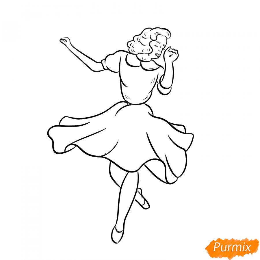 Рисуем танцующую девушку - шаг 5