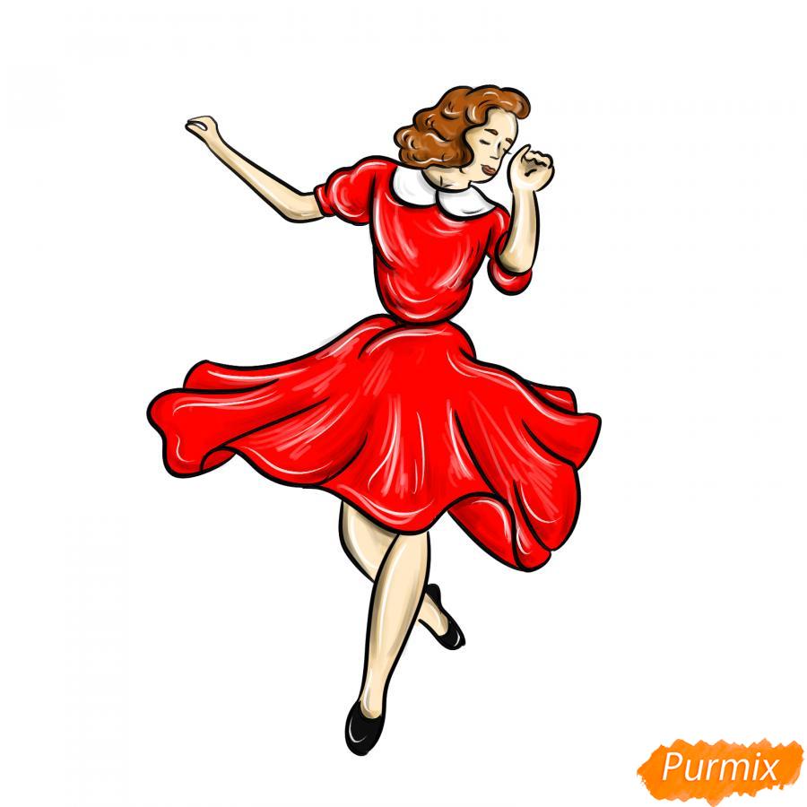 Рисуем танцующую девушку - шаг 8