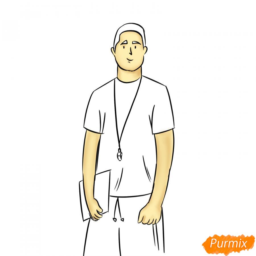 Рисуем учителя по физкультуре - шаг 6