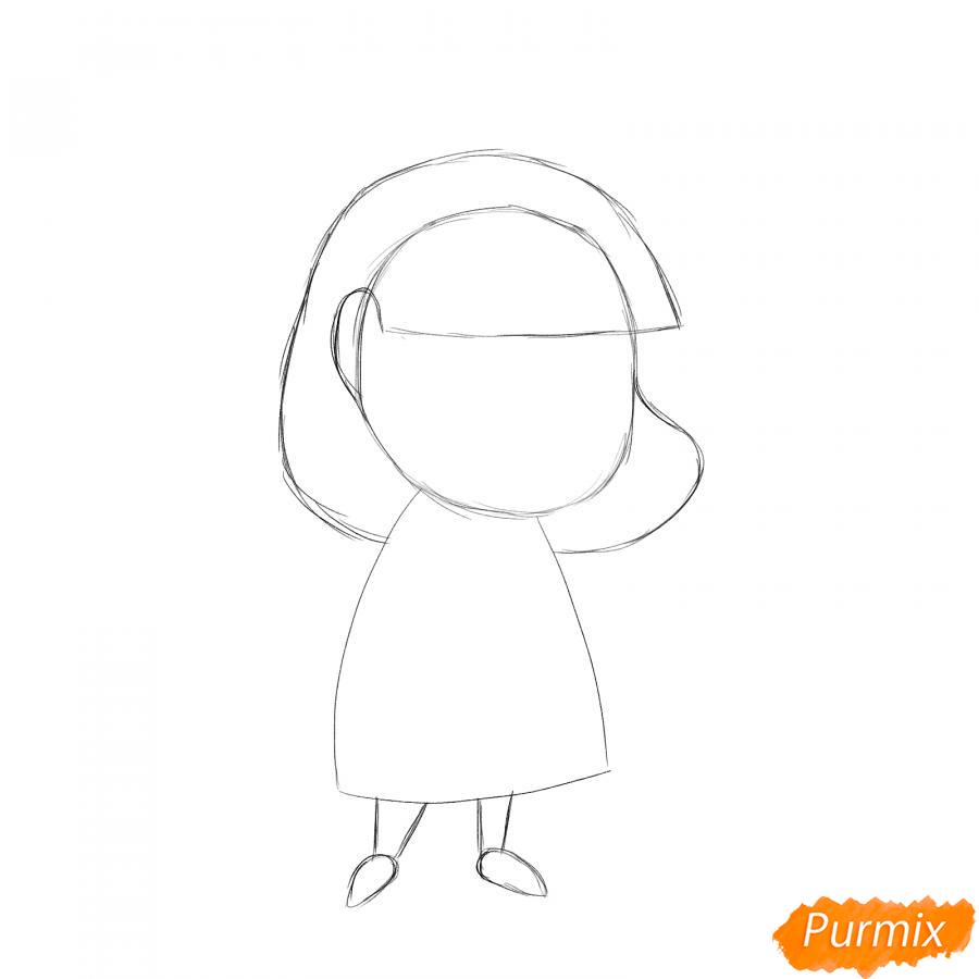 Рисуем ветеринара девушку c коалой - шаг 2