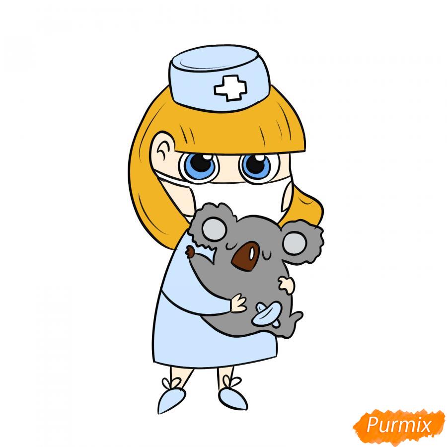 Рисуем ветеринара девушку c коалой - шаг 9