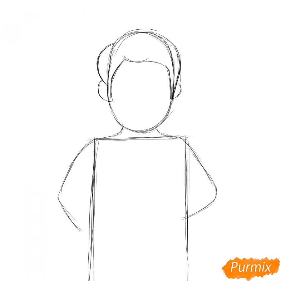 Рисуем ветеринара карандашами - шаг 2