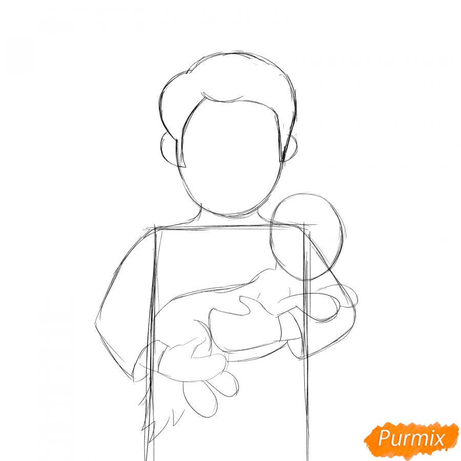 Рисуем ветеринара карандашами - шаг 3