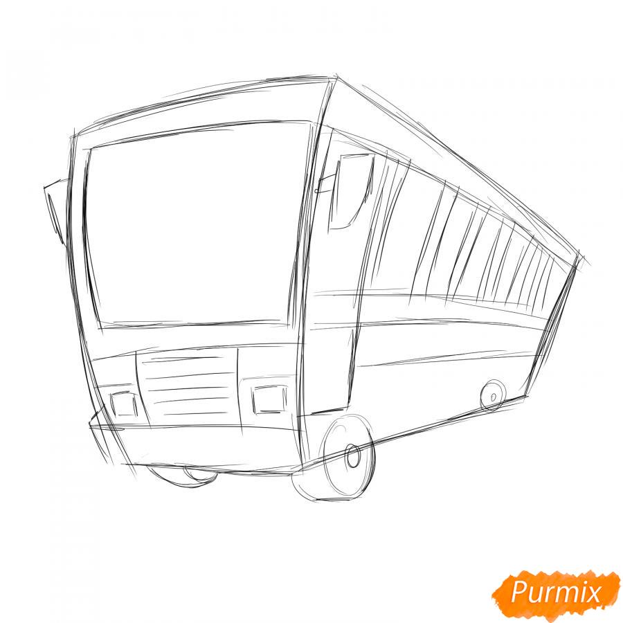 Рисуем водителя автобуса - шаг 2