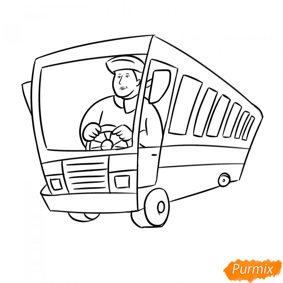Рисуем водителя автобуса - шаг 5