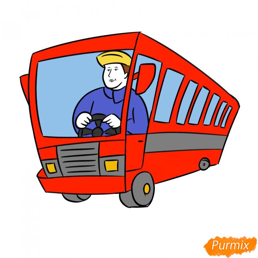 Рисуем водителя автобуса - шаг 7