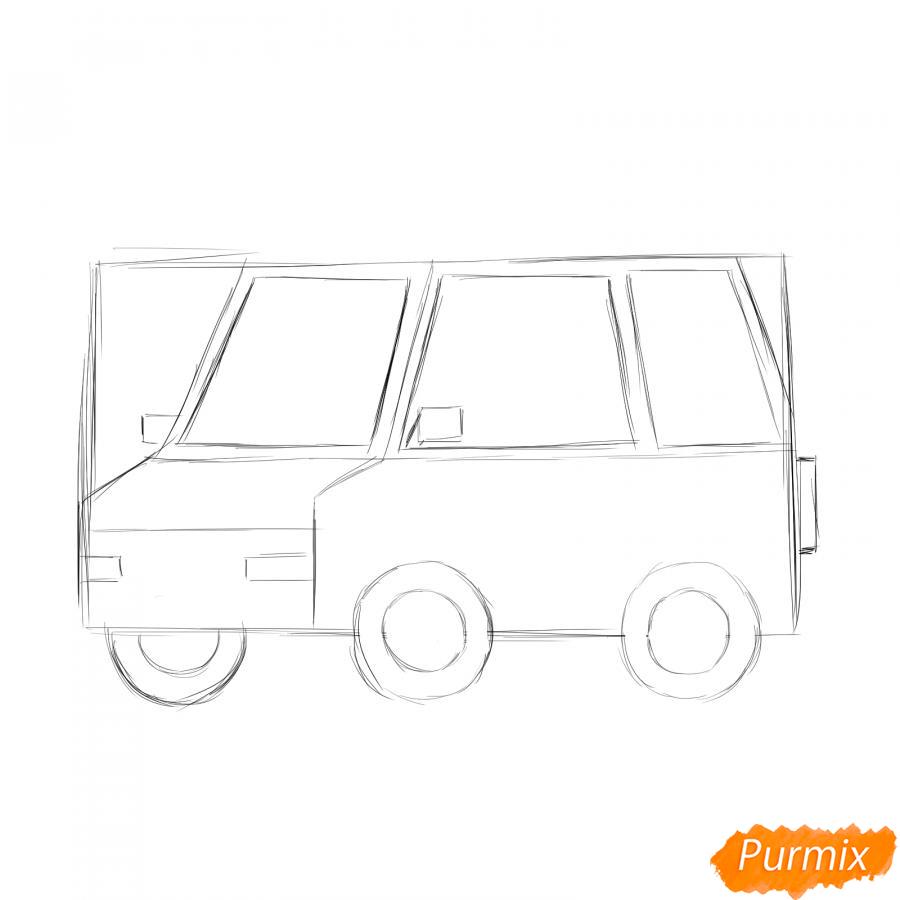 Рисуем водителя - шаг 2