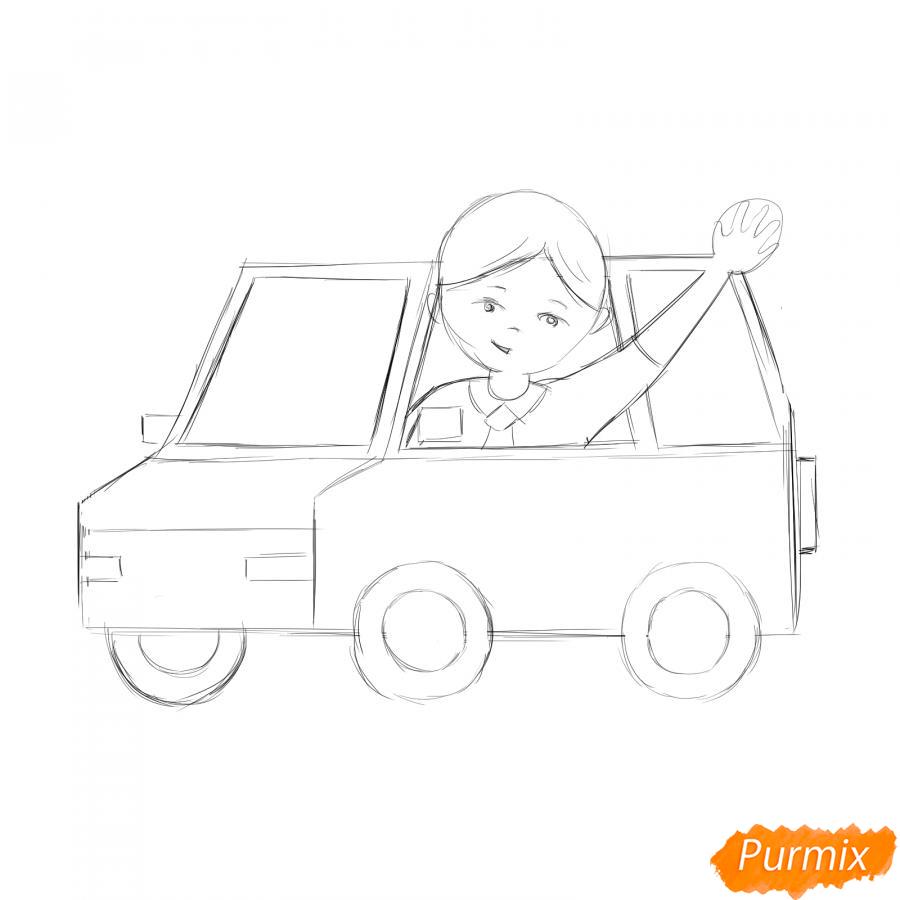 Рисуем водителя - шаг 4