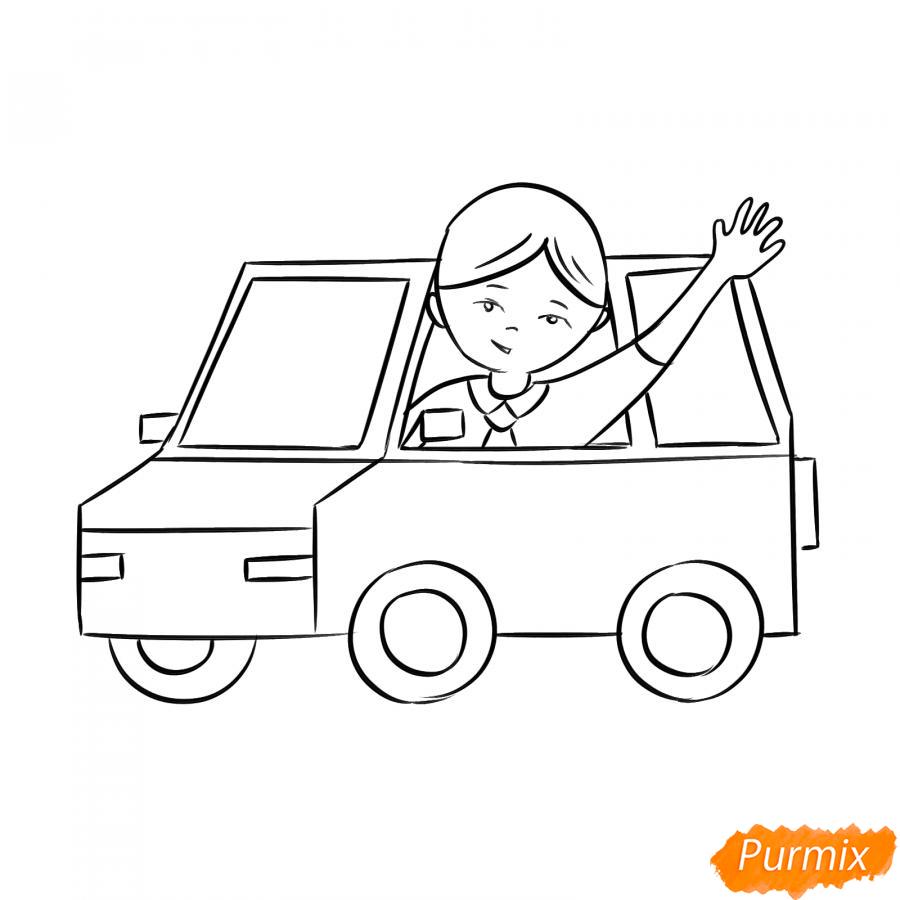 Рисуем водителя - шаг 5