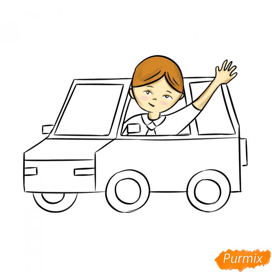 Рисуем водителя - шаг 6