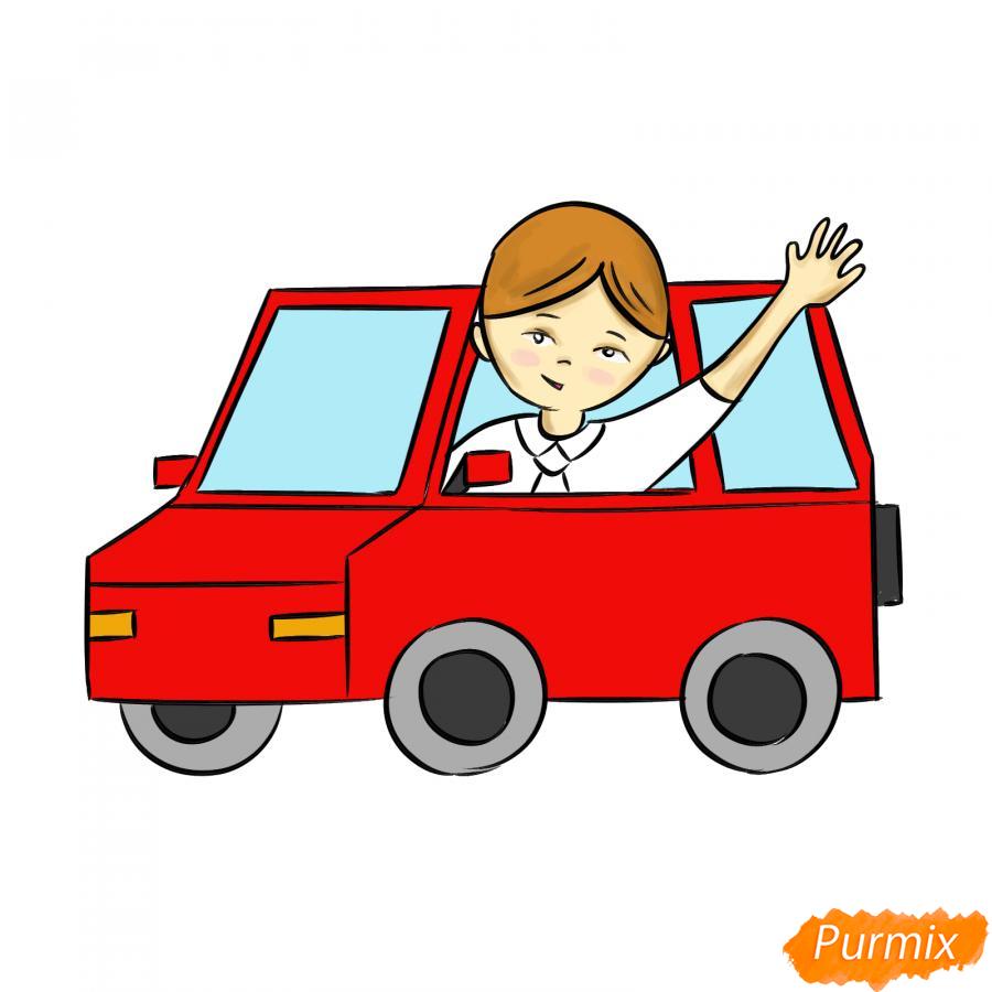 Рисуем водителя - шаг 7