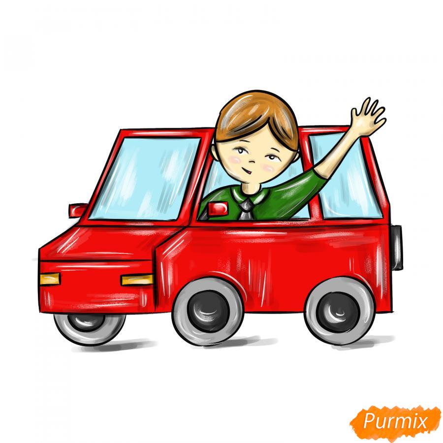 Рисуем водителя - шаг 9