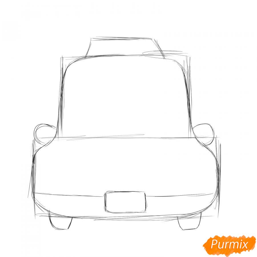 Рисуем водителя такси - шаг 2