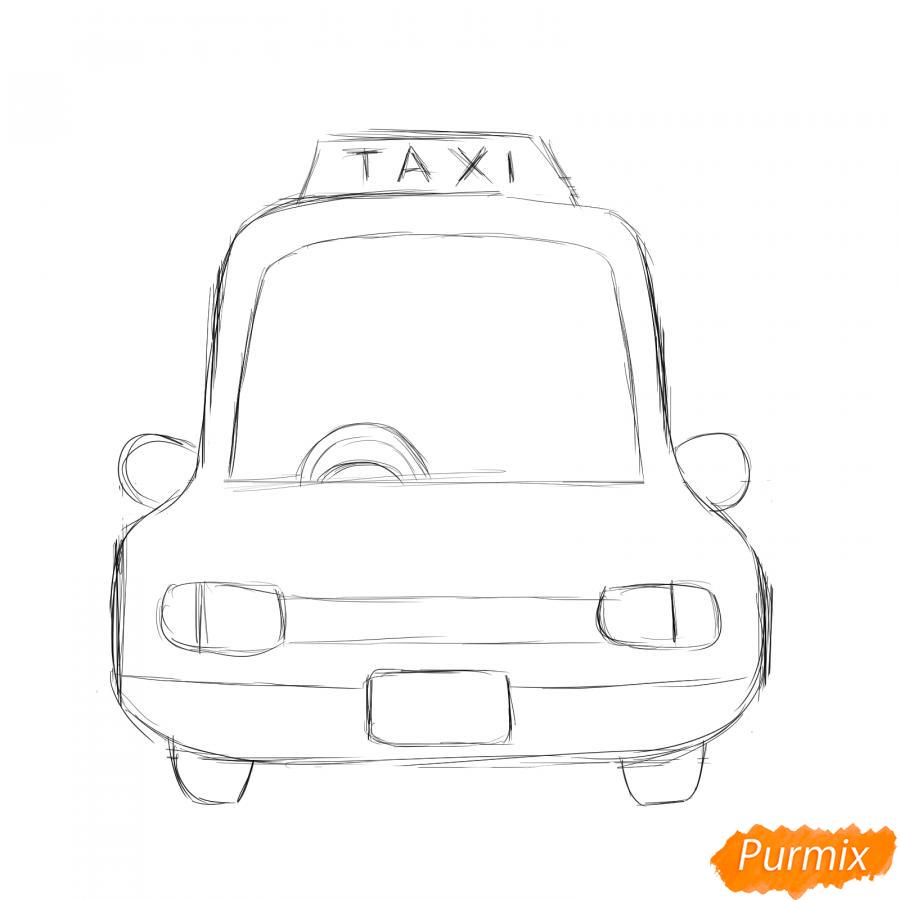 Рисуем водителя такси - шаг 3