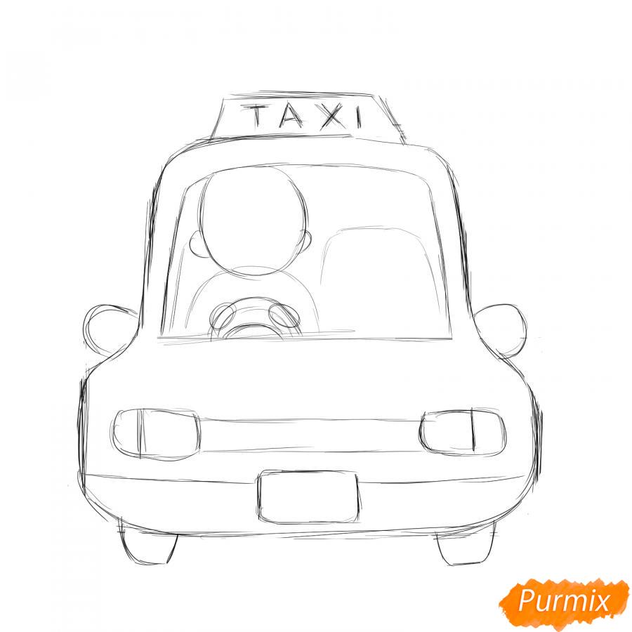 Рисуем водителя такси - шаг 4