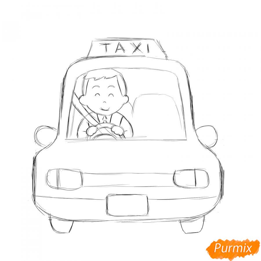 Рисуем водителя такси - шаг 5