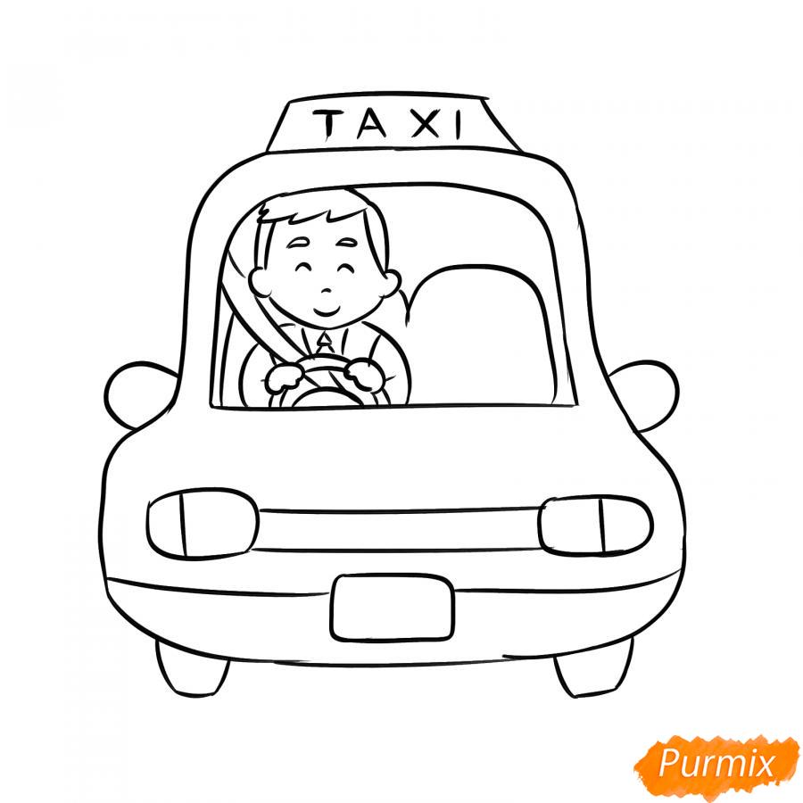 Рисуем водителя такси - шаг 6