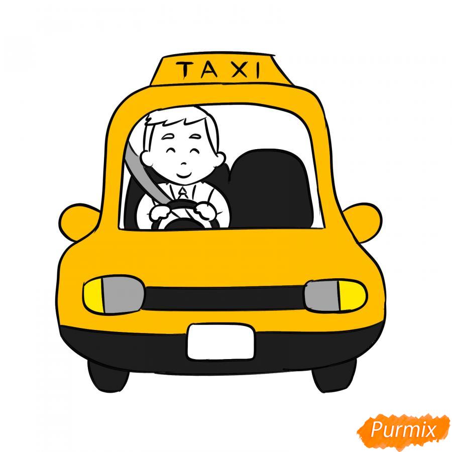Рисуем водителя такси - шаг 7